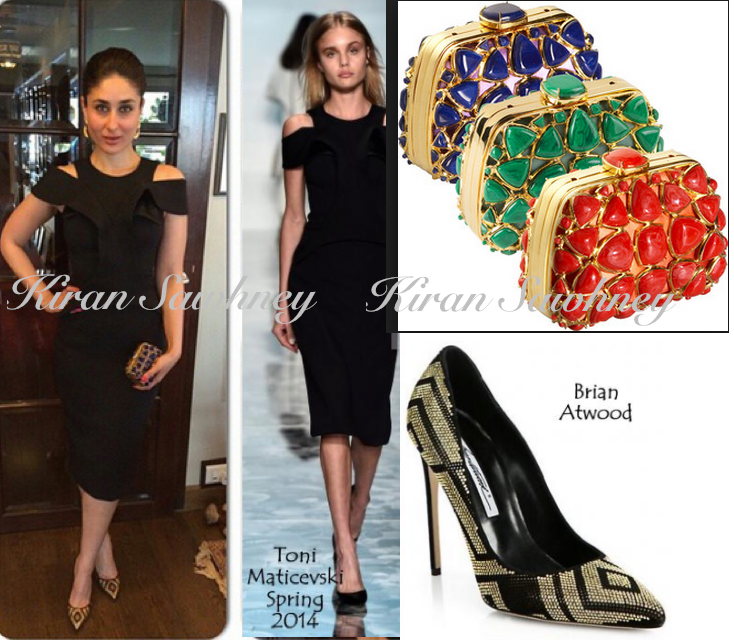 Kareena Kapoor in Toni Maticevski, Brian Atwood and Dior