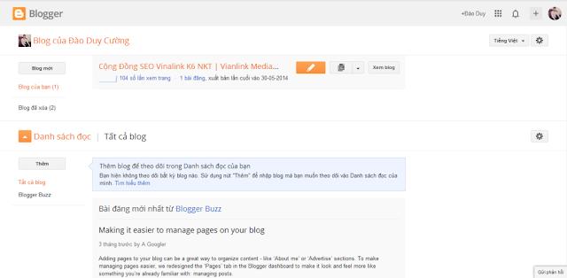 Tổng quan về Blogspot