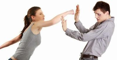 الرجل يخاف من المرأة..رجل خائف من امرأة تضرب رجل تلكم بوكس - man Fear-of-women-hypnosis - hit punsh punish
