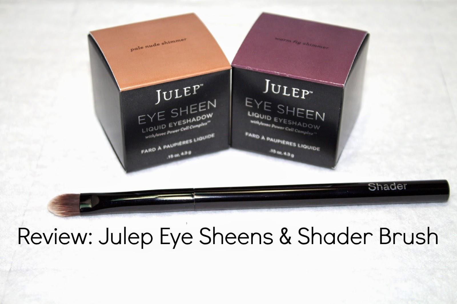 Julep Eye Sheen, Julep Shader Brush, Review, @girlythingsby_e