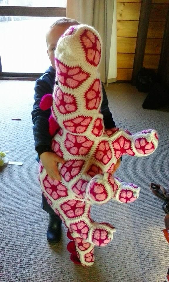 Knot Your Nanas Crochet Smaug The African Flower Dragon Pattern