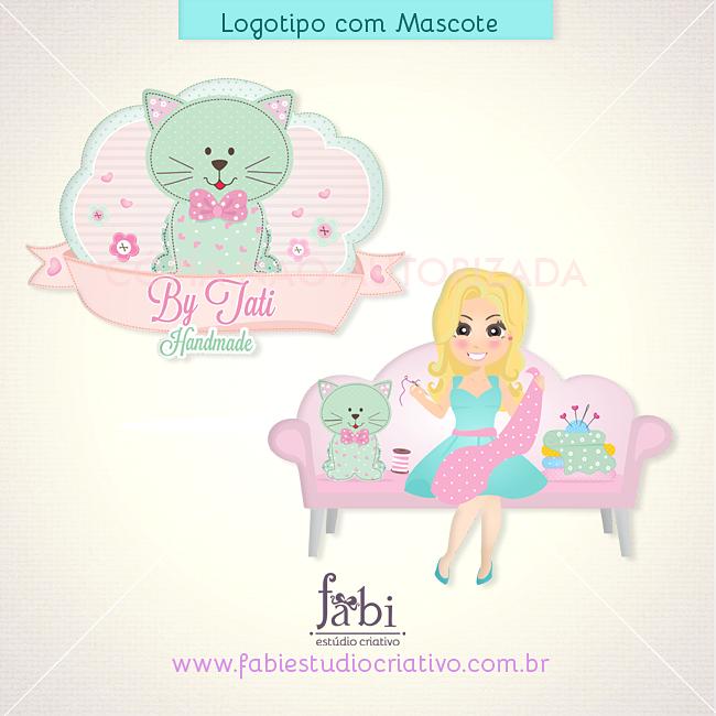logotipo, patchwork, ateliê, logo com gatinho, logomarca ateliê, logomarca fofa, logo artesã, logo para artesanato, loja elo7, loja online