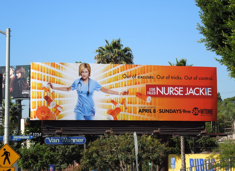 Nurse Jackie season 4 TV billboard