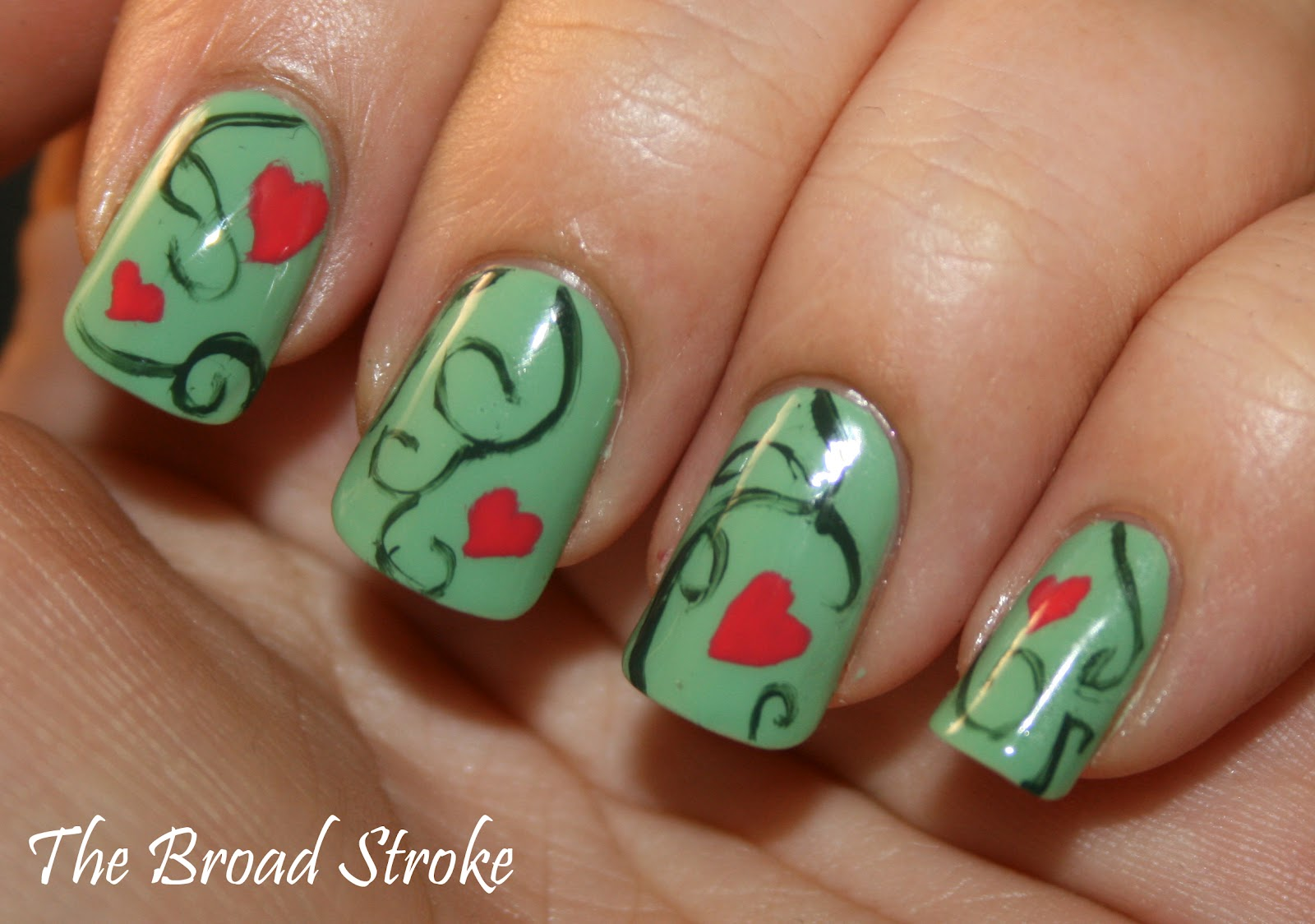 The Excellent Green nail art cute and easy Picture
