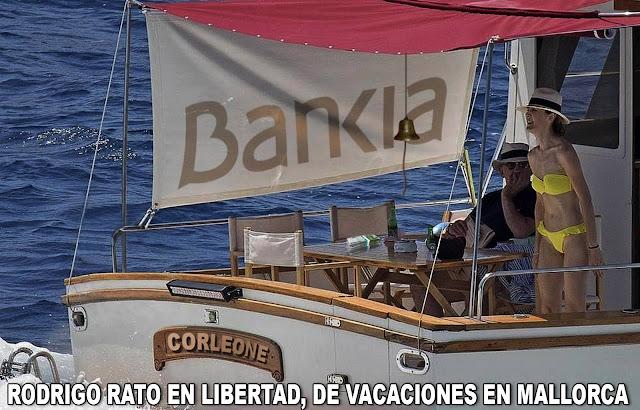 Rodrigo Rato de vacaciones mientras los españoles pagamos los 23.000 millones del rescate a Bankia