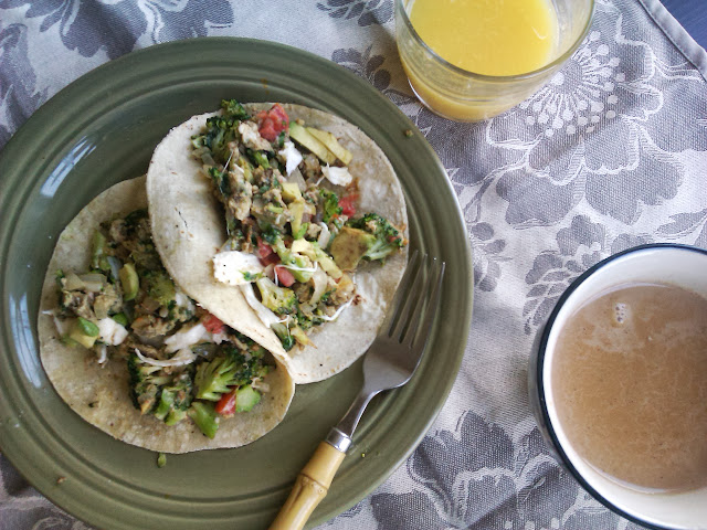 Broccoli Breakfast Tacos