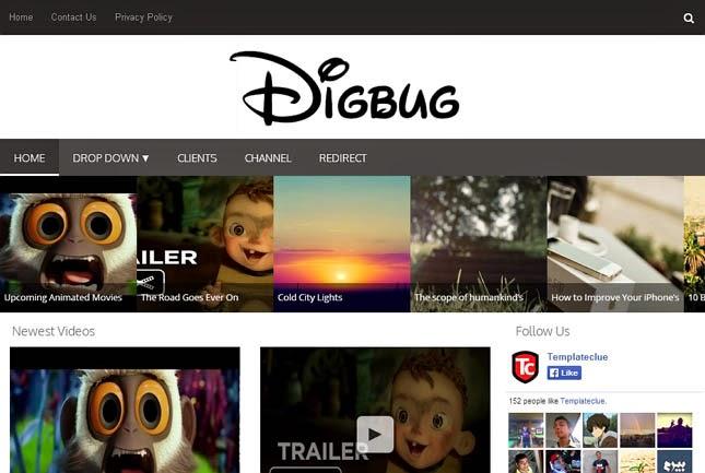 Digbug Responsive Blogger Template