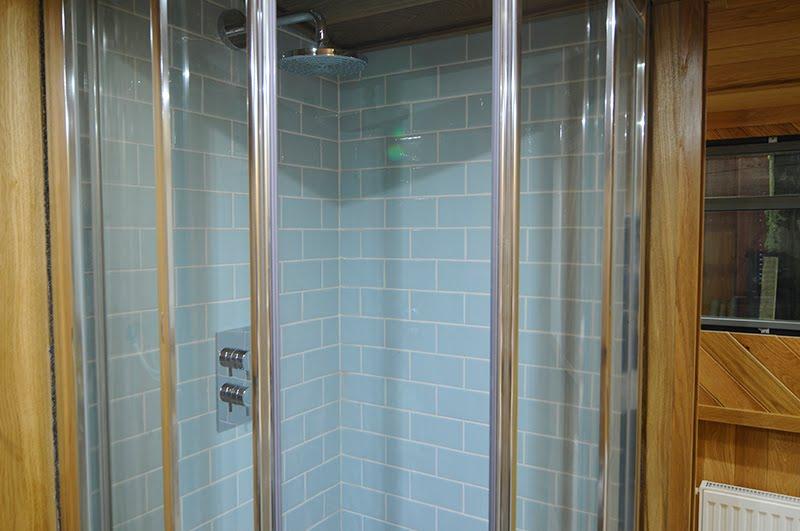 crackle glaze tiles in shower
