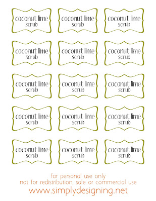 coconut line scrub free printable labels #printable #free #scrub