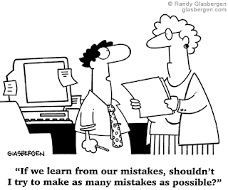 Learn From Our Mistakes Humor Cartoon