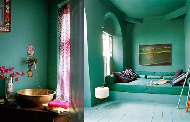 Tendance peinture murs bleu petrole