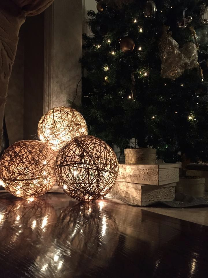 Twine spheres diy a modern and classy christmas decoration