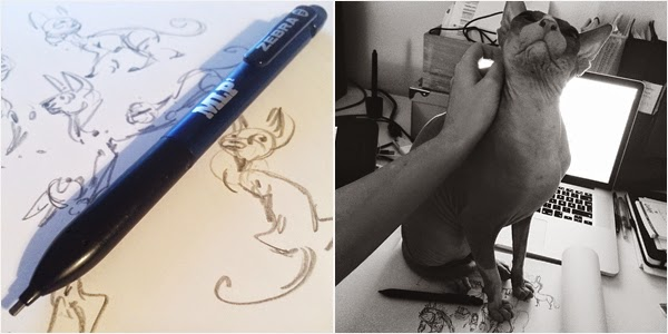 pencil and sphynx