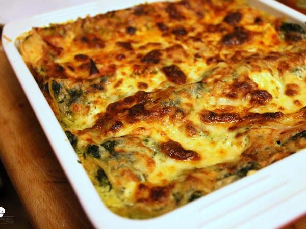 Spinat-Käse-Lasagne oder auch 'Wie? Kein Fleisch?!'