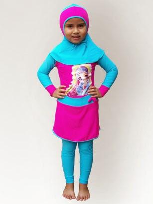 Baju renang muslim anak lucu