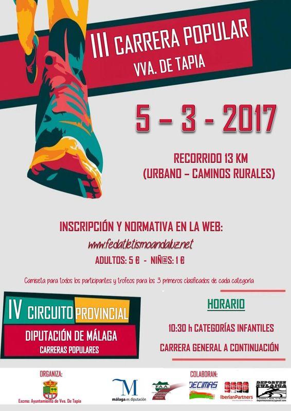 III Carrera Popular Vva. de Tapia