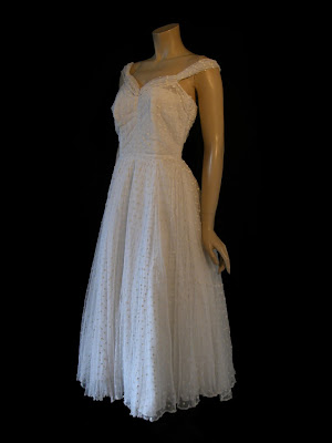 The affordable vintage fashion fair april 2011 for Dotted swiss wedding dress