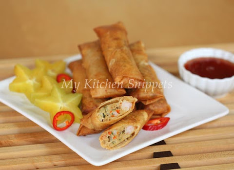 how to make meat spring rolls