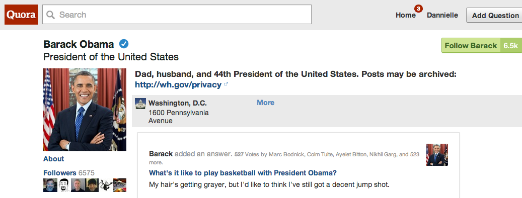 President Obama On Quora: Oy Vey