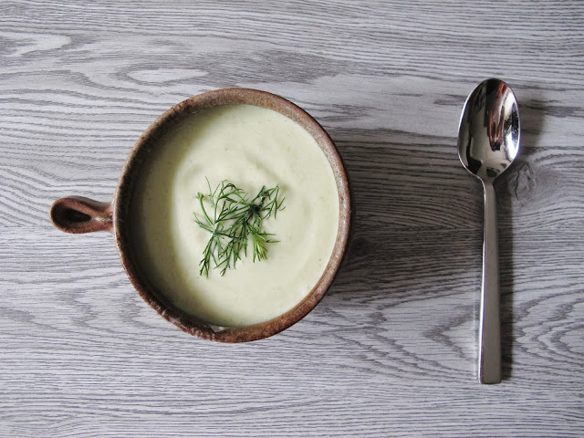 Chilled Coconut Cucumber Avocado Soup