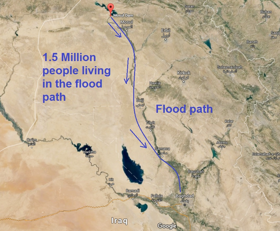 Giant tsunami wave threatens 1.5 million people as Iraqi dam falls into disrepair: 14 meter wave...