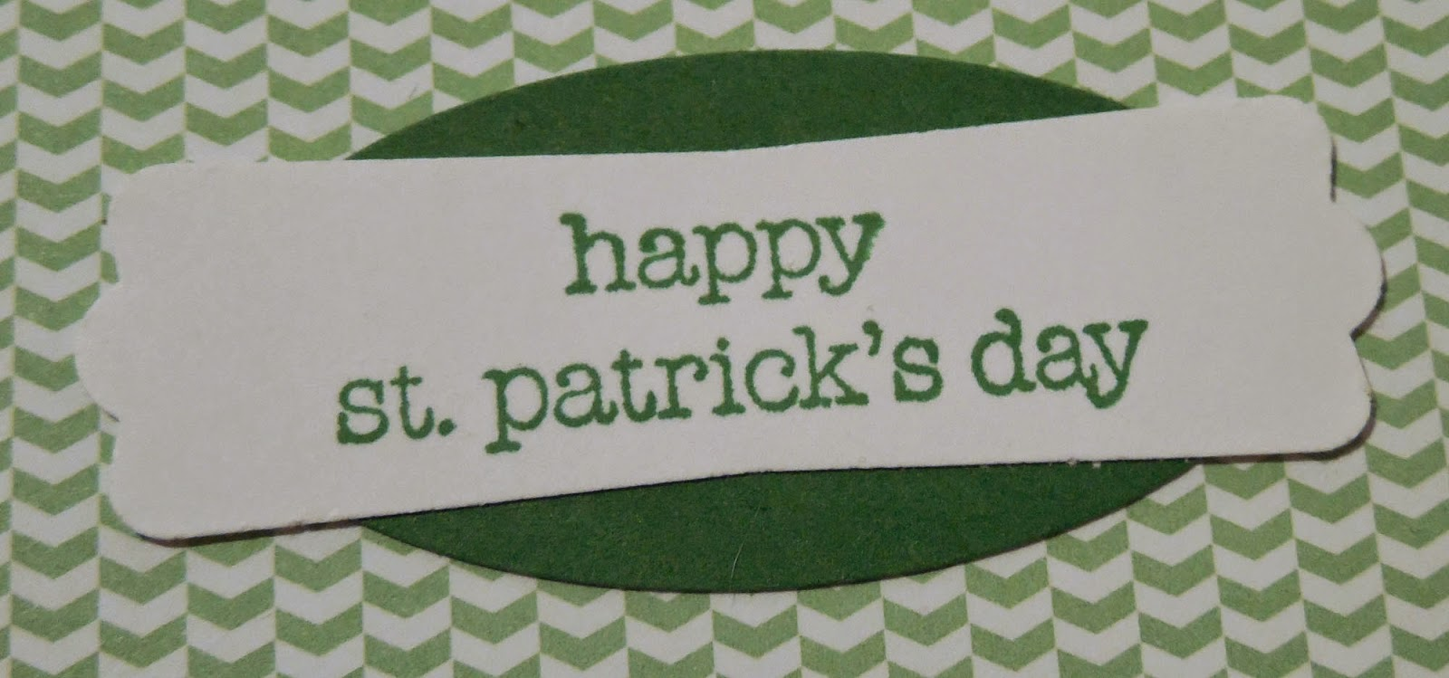 The sentiment for the St. Patrick's Day Card