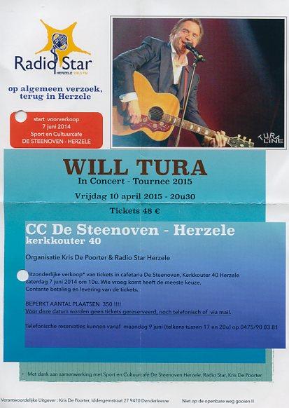 Will Tura komt terug naar Herzele in 2015 !