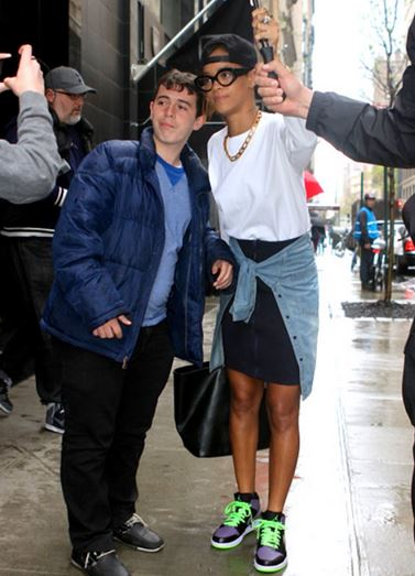 cbb0cafd5126 Celeb Sneaker Game  Rihanna Wearing Air Jordan Joker 1 Sneakers