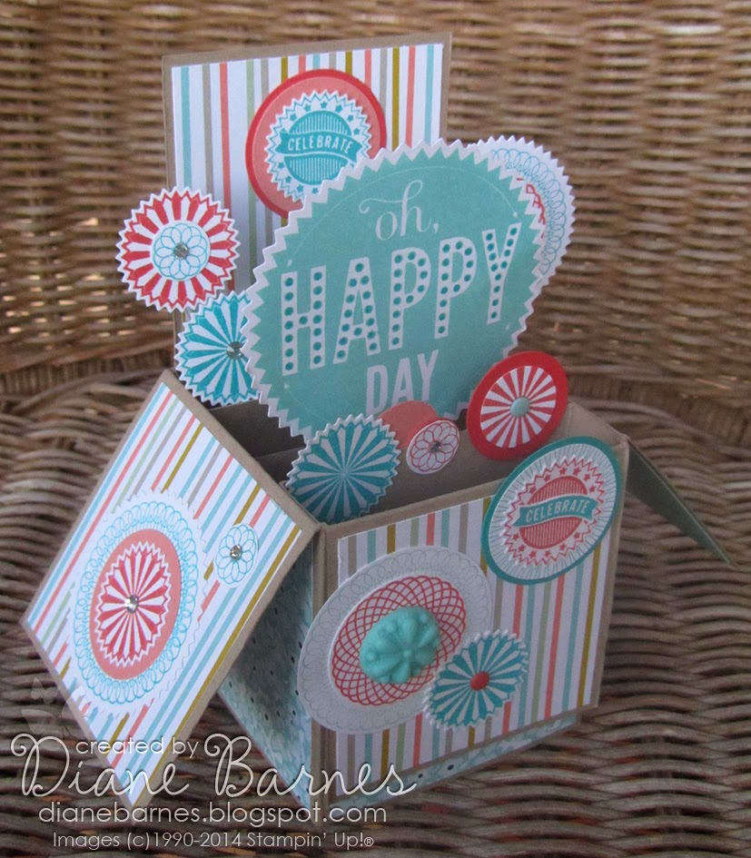 Colour Me Happy: Starburst Birthday Pop-up Card In A Box