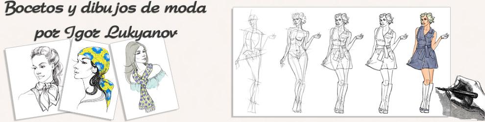 Bocetos y Dibujos de Moda por Igor Lukyanov