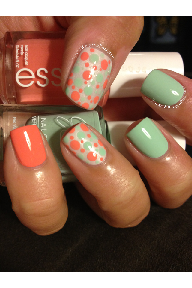 Young Wild and Polished: Pastel Dotticure.....and a blog ...
