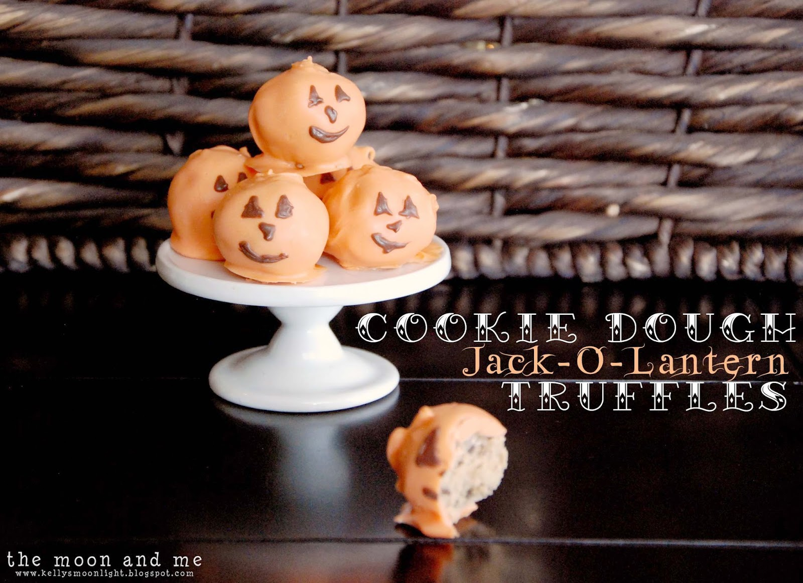 Cookie Dough Jack-O-Lantern Truffles Treasure Hunt Thursday Link Party From My Front Porch To Yours