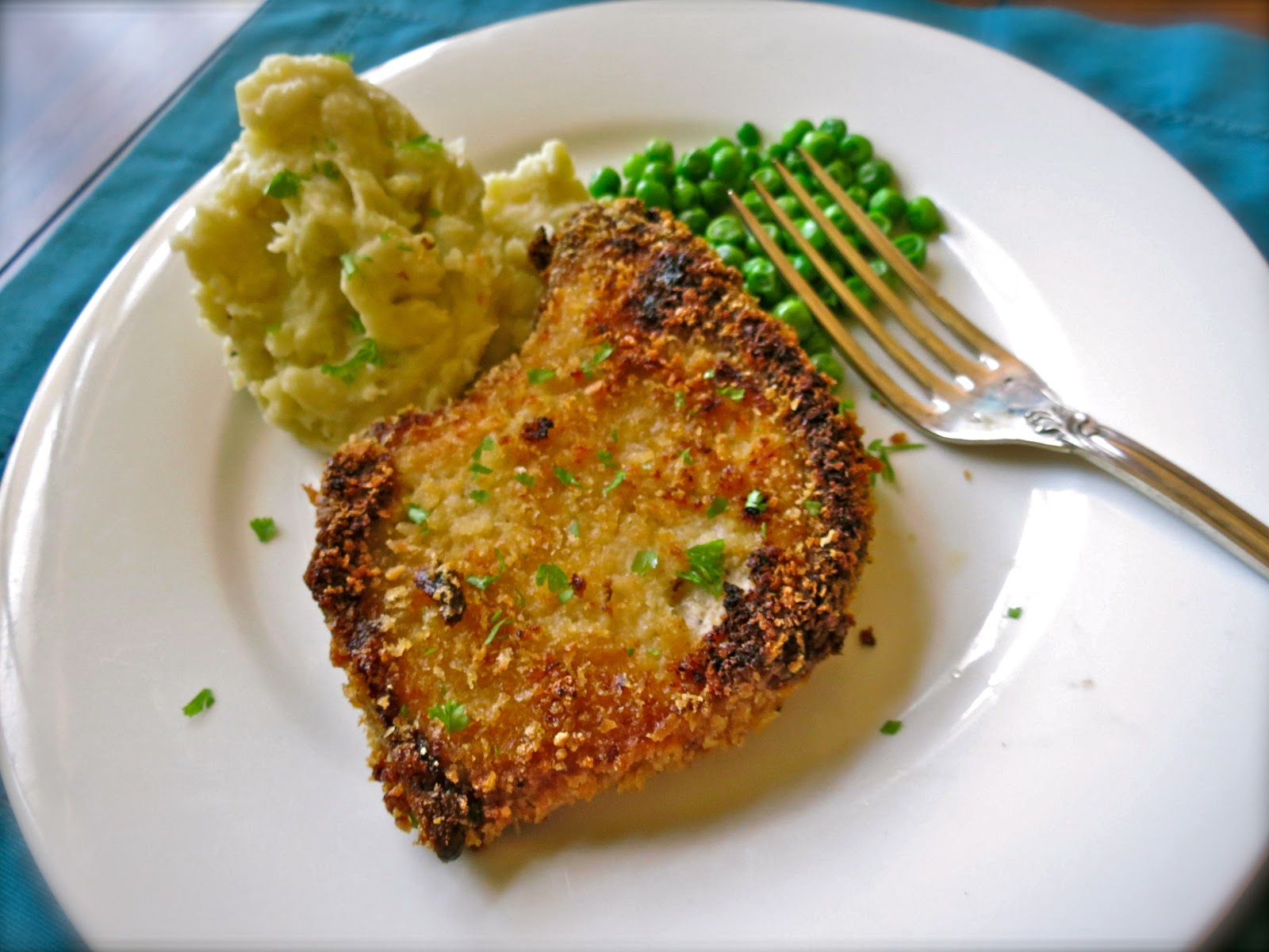 """... Kitchen : Panko Crusted Oven """"Fried"""" Pork Chop with Wasabi Smas..."""