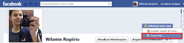 adicionar capa facebook