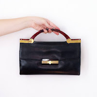 gift for her vintage leather bag clutch