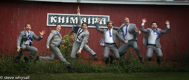 Virginia Farm Wedding Groom and Groomsmen