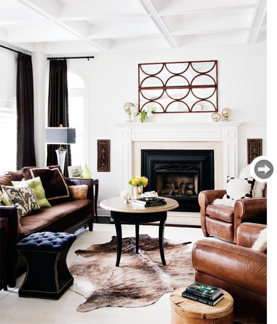 Modern Home Design October 2012: Mix And Chic: Home Tour- A Classic Contemporary Home In