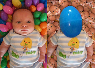 cute baby face easter candy faces