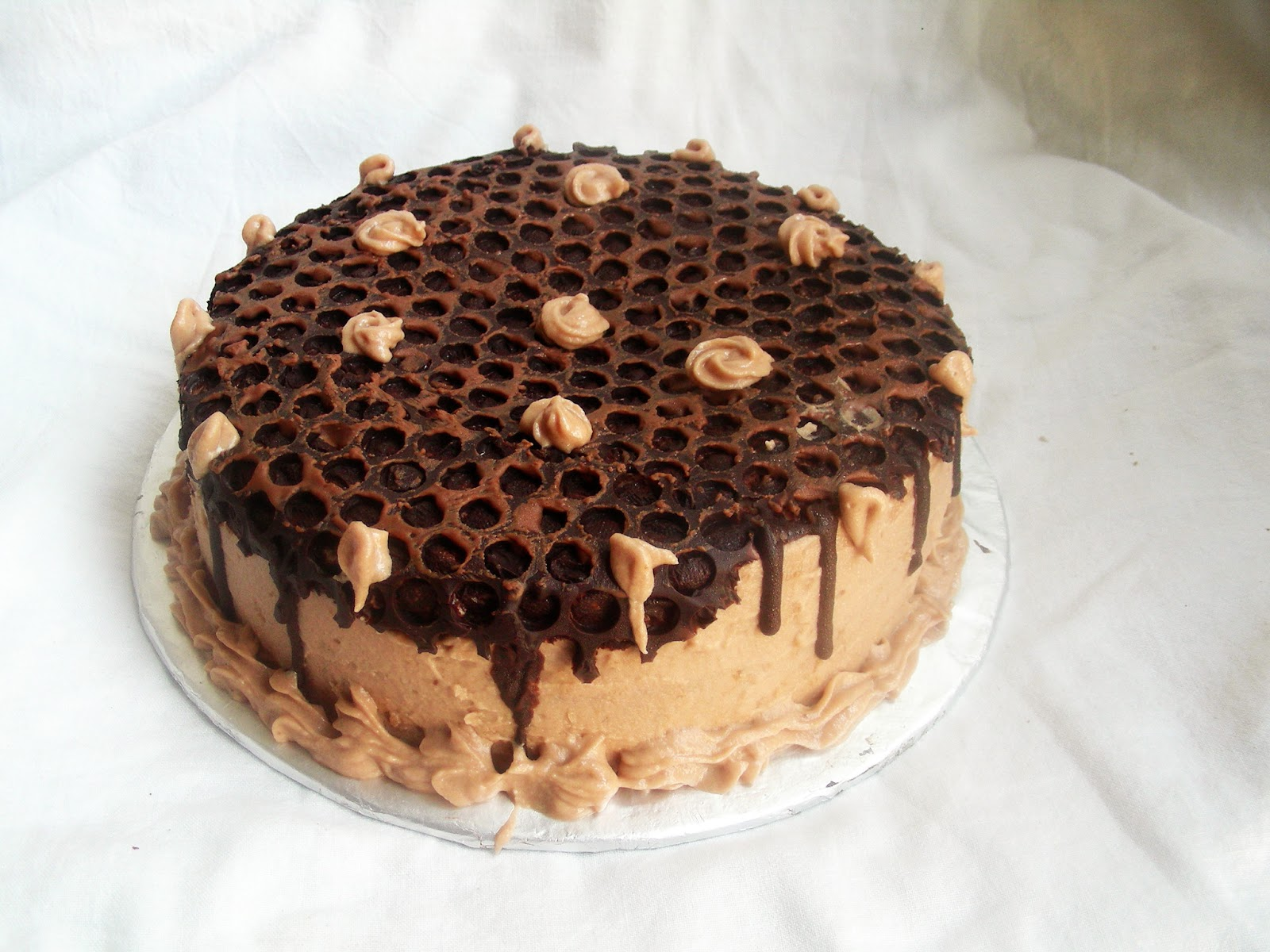 Chocolate Honeycomb Cake Made With Bubble Wrap Images