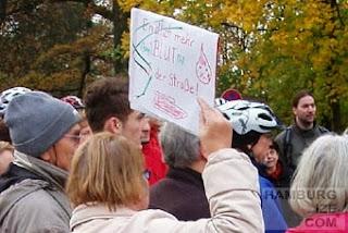 """Protest am """"Knoten Ochsenzoll"""""""