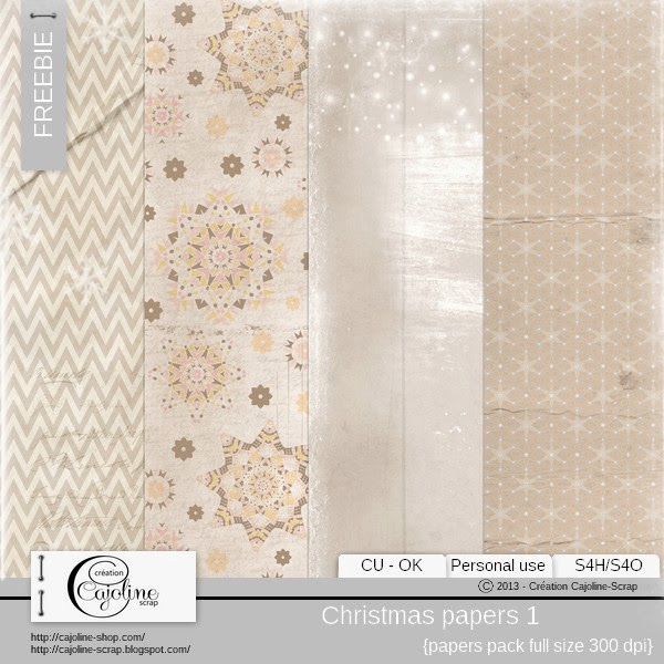 Freebie - Christmas papers CU 1