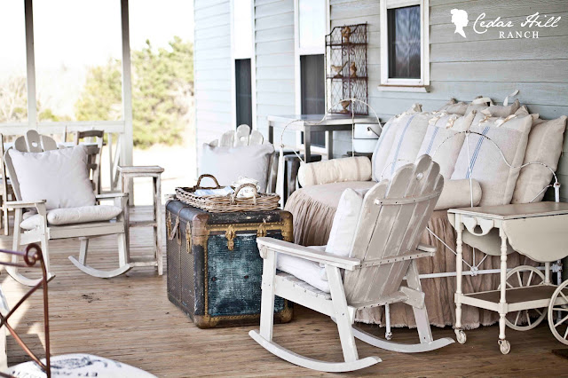 Keeping it cozy on the back porch for Back porch ranch