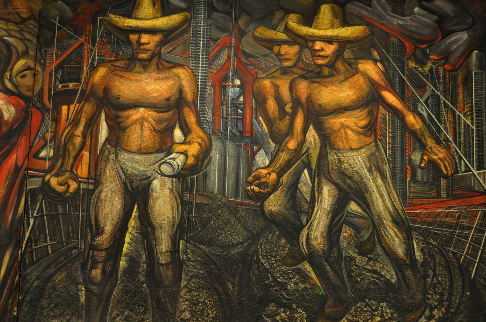 Arte sagrado david alfaro siqueiros for El mural de siqueiros