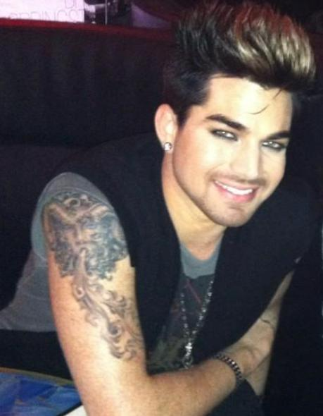 Adam lambert help adam lambert in nyc last night tattoo for Adam lambert tattoos