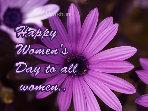 Happy Women's Day to all women.