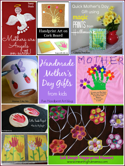 Handmade Mother's Day Gifts - crafts for kids #HandprintHolidays