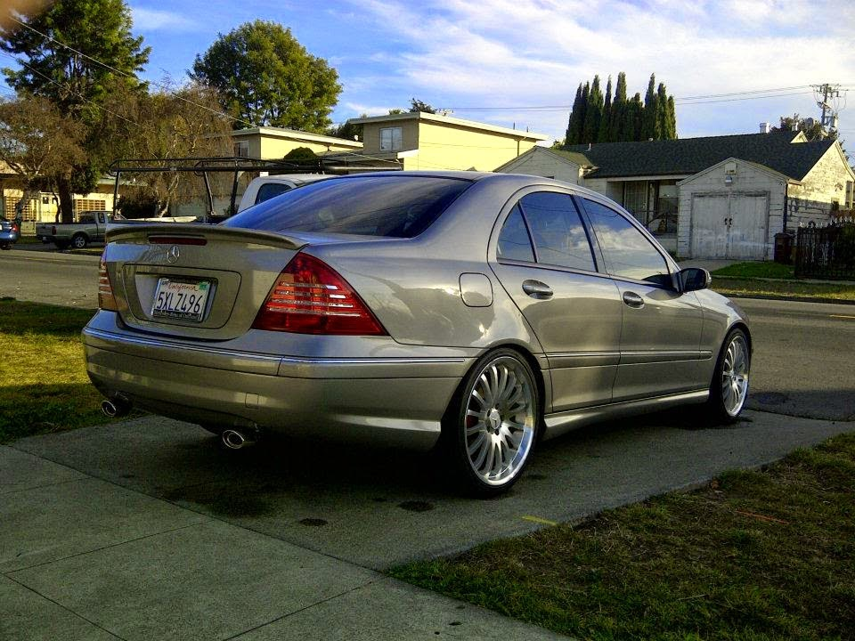 mercedes c230 kompressor on r19 carlsson rims w203 benztuning. Black Bedroom Furniture Sets. Home Design Ideas