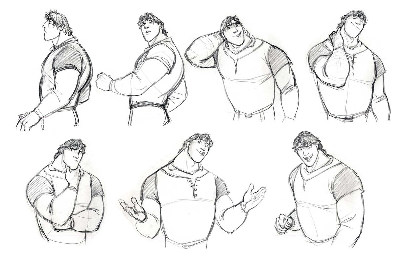 Character Design And Concept Art : Living lines library tangled character flynn ryder