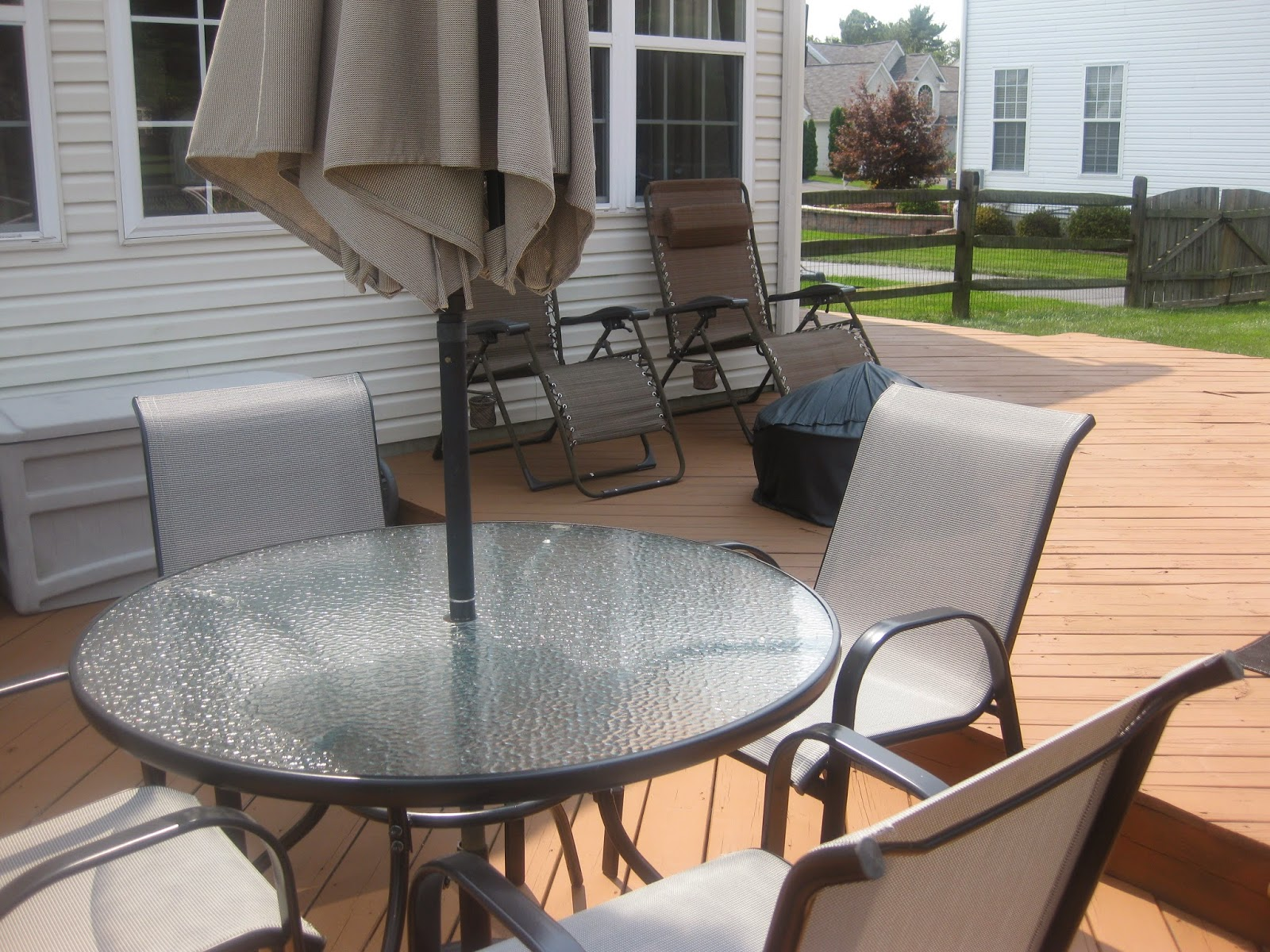 Before image of deck without decor
