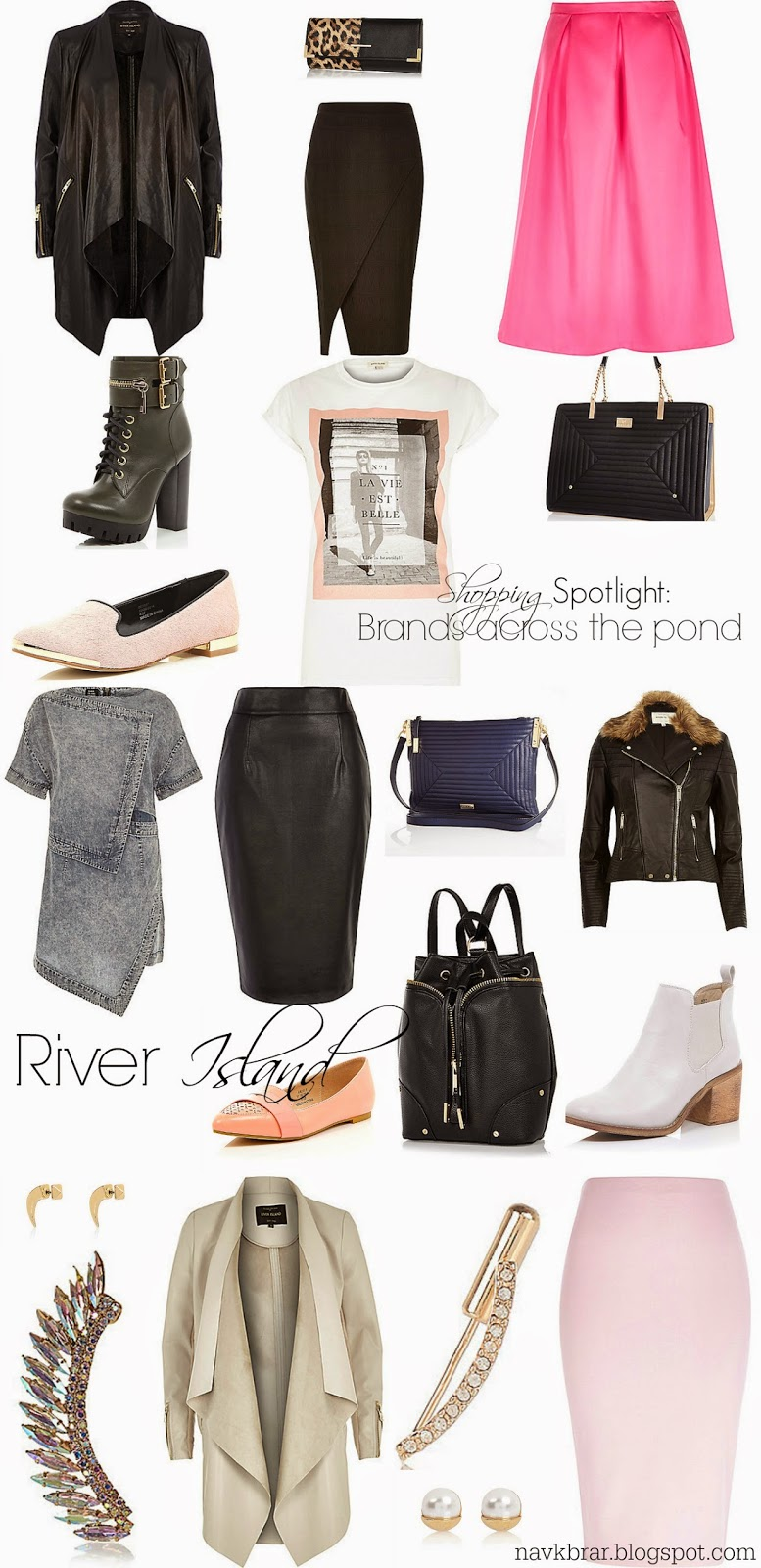 River Island, England high street brands - edgy modern fashion shopping guide
